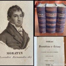 Libros antiguos: OBRAS DRAMÁTICAS Y LÍRICAS, L. FERNÁNDEZ DE MORATÍN. COLECCIÓN COMPLETA 6 TOMOS, EN 3 VOL. 1834. Lote 289896653