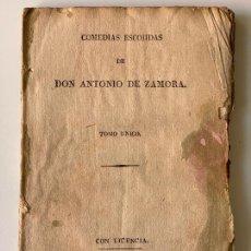 Libros antiguos: COMEDIAS ESCOJIDAS DE DON ANTONIO DE ZAMORA , MADRID 1832 , EL HECHIZADO POR FUERZA. Lote 295592353