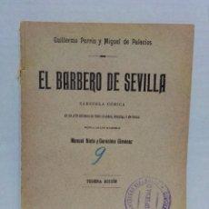Libros antiguos: EL BARBERO DE SEVILLA.ZARZUELA CÓMICA.GUILLERMO PERRIN Y M.DE PALACIOS.MADRID 1007,3RAA EDICIÓN. Lote 296849138