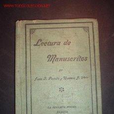 Libros antiguos: LECTURA DE MANUSCRITOS POR JUSTO P. PARRILLA Y MARIANO J. VIETA.HABANA 1908. Lote 24694152