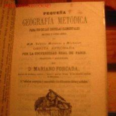 Libros antiguos: LIBRO ESCOLAR PEQUEÑA GEOGRAFIA AÑO 1866. Lote 24091296