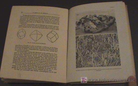 Libros antiguos: EL MUNDO DE LOS MINERALES año 1922 - Autor: Lucas Fernandez Navarro - Editorial CALPE año 1922 - lib - Foto 2 - 26799628