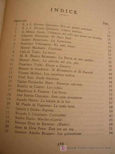 Libros antiguos: SELECCIÓN DE VERSOS ESPAÑOLES LIBRO DE LECTURA Y DE INICIACIÓN AL CONOCIMIENTO DE LA POESÍA - - Foto 3 - 20941261