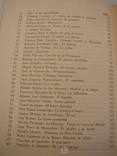 Libros antiguos: SELECCIÓN DE VERSOS ESPAÑOLES LIBRO DE LECTURA Y DE INICIACIÓN AL CONOCIMIENTO DE LA POESÍA - - Foto 4 - 20941261