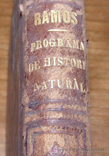 Libros antiguos: Libro: RAMOS. PROGRAMA DE HISTORIA NATURAL, año 1873 - Foto 2 - 4902385