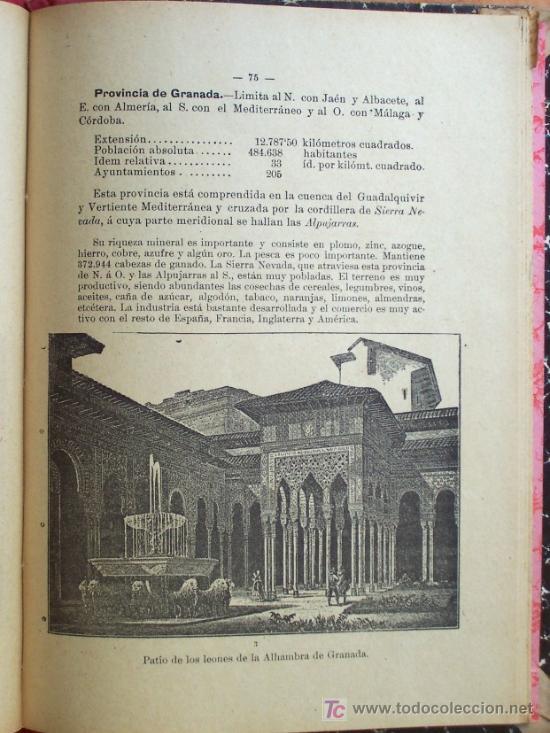 Libros antiguos: ELEMENTOS DE GEOGRAFÍA - POR D. MANUEL ZABALA ARDANIZ - TERCER CURSO - AÑO 1902 - Foto 3 - 24592211