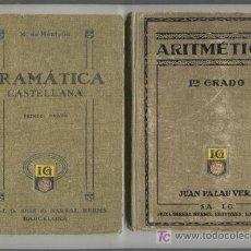 Libros antiguos: ARITMETICA Y GRAMATICA DE 1º GRADO AÑOS 1918 Y 1924. Lote 27592240