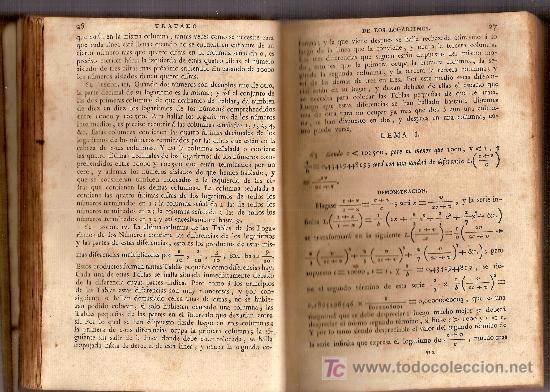Libros antiguos: Curso de matematicas...por Tadeo Lope y Aguilar. Madrid : Imp. Real, 1798. - Foto 4 - 26310743