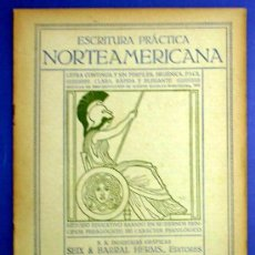 Libros antiguos: ESCRITURA PRÁCTICA NORTEAMERICANA. CUADERNO Nº 5. SEIX BARRAL HERMS, EDITORES. BARCELONA, SIN FECHA.. Lote 13895386