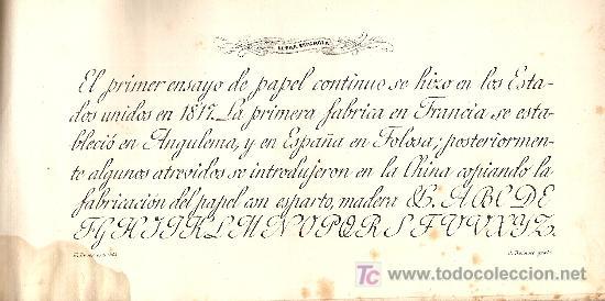 Libros antiguos: Para uso de las escuelas Letra inglesa, española y adorno / E. Bover.BCN : Tip.Lit. Verdaguer, C1860 - Foto 3 - 35242639