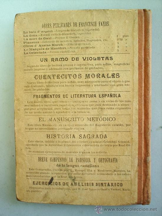Libros antiguos: ELOQUENCIA CATALANA--1903-LIBRERIA MONTSERRAT--escolar - Foto 2 - 18637778
