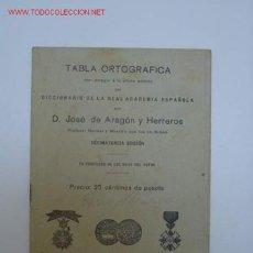 Libros antiguos: LIBRO TABLA ORTOGRAFICA. Lote 24958142