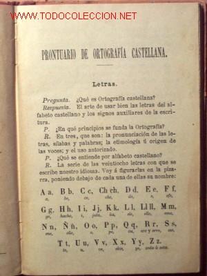 Libros antiguos: PRONTUARIO DE ORTOGRAFIA CASTELLANA EN PREGUNTAS Y RESPUESTAS - R.A.E. - AÑO 1898 - Foto 2 - 19025711