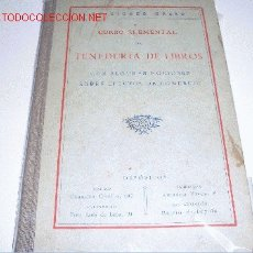 Libros antiguos: CURSO ELEMNETAL TENEDURIA DE LIBROS. Lote 2558739
