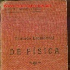 Libros antiguos: TRATADO ELEMENTAL DE QUIMICA (MADRID, HACIA 1920). Lote 21926024