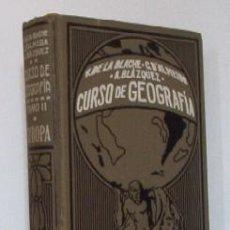 Libros antiguos: EUROPA - CURSO DE GEOGRAFIA - AÑO 1927 - LIBRO ESCOLAR. Lote 27410470