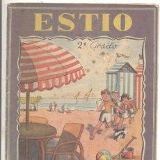 Libros antiguos: ESTIO 2º GRADO DEBERES DE VACACIONES POR LUIS MALLAFRÉ EDITORIAL ROMA BARCELONA. Lote 14090179