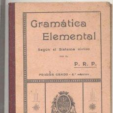 Libros antiguos: ESCUELAS PIAS GRAMATICA ELEMENTAL 1913. Lote 10143250