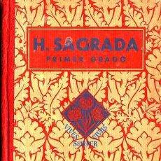 Libros antiguos: LIBRO DE TEXTO HISTORIA SAGRADA PRIMER GRADO AÑO 1935. Lote 11065748