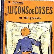Libros antiguos: LIBRO DE TEXTO LLIÇONS DE COSAS ANY 1933. Lote 11066833