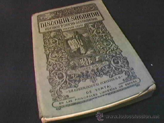 COMPENDIO DE HISTORIA SAGRADA. ANTIGUO Y NUEVO TESTAMENTO. SEGUNDO GRADO. EDICIONES BRUÑO. (Libros Antiguos, Raros y Curiosos - Libros de Texto y Escuela)