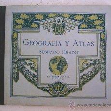 Libros antiguos: GEOGRAFIA Y ATLAS, SEGUNDO GRADO, EDITORIAL F.T.D. 1927 (12ª EDICION). Lote 22416445