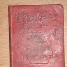 Libros antiguos: MÉTODOS AHN DE FRANCÉS (PRIMER CURSO) DE BAILLY BAILLIERE EN MADRID, SIN FECHA. Lote 18699956