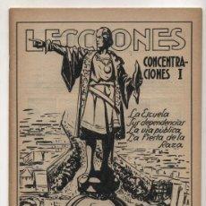 Libros antiguos: LECCIONES Nº 7. CONCENTRACIONES I. EDITORIAL SALVATELLA.. Lote 23957024