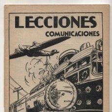 Libros antiguos: LECCIONES Nº 10. COMUNICACIONES. EDITORIAL SALVATELLA.. Lote 23957025