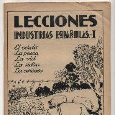 Libros antiguos: LECCIONES Nº 5. INDUSTRIAS ESPAÑOLAS .- I. EDITORIAL SALVATELLA.. Lote 23957028
