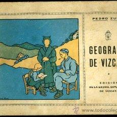 Libros antiguos: GEOGRAFIA DE VIZCAYA. ANTIGUO LIBRO DE ESCUELA. Lote 69235658