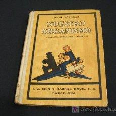 Libros antiguos: NUESTRO ORGANISMO (ANATOMIA, FISIOLOGIA E HIGIENE) - JUAN VAZQUEZ - AÑO 1932. Lote 24752200