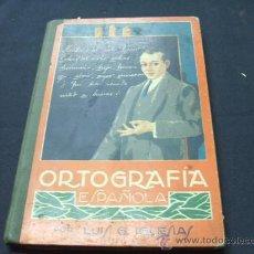 Libros antiguos: ORTOGRAFIA ESPAÑOLA - LUIS G. IGLESIAS - COLECCION MAGISTER - BARCELONA - . Lote 22527300