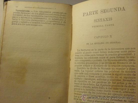 Libros antiguos: GRAMATICA DE LA LENGUA ESPAÑOLA AÑO 1.927 -numerado 15738 - Foto 2 - 26292793