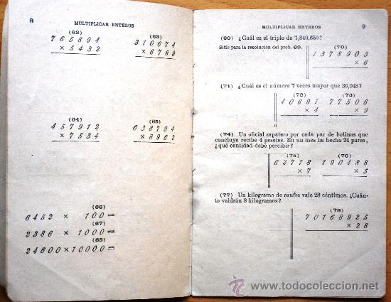 Libros antiguos: CUADERNO Nº 5 MULTIPLICAR ENTEROS - JOSÉ PALUZÍE - AÑOS 20 - USADO - 10 X 15 CM. - Foto 2 - 25314618