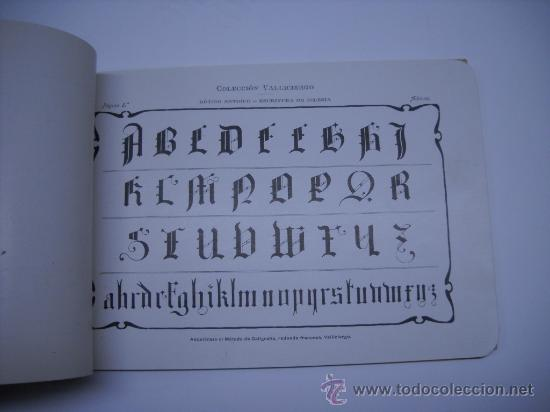 Libros antiguos: CALIGRAFIA. VALLICIERGO: NUEVO METODO DE CARACTERES GOTICOS Y DE ADORNO. MADRID,HACIA 1900.23X16 - Foto 6 - 27219854