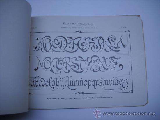 Libros antiguos: CALIGRAFIA. VALLICIERGO: NUEVO METODO DE CARACTERES GOTICOS Y DE ADORNO. MADRID,HACIA 1900.23X16 - Foto 7 - 27219854