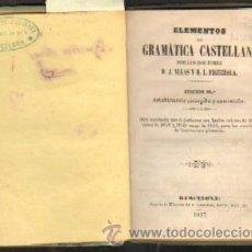 Libros antiguos: ELEMENTOS DE GRAMATICA CASTELLANA (A/ GRA- 017). Lote 3343516