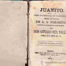 Libros antiguos: LIBRO DE TEXTO ESCOLAR / JUANITO / L.A.PARRAVICCINI / 1886. Lote 40606581