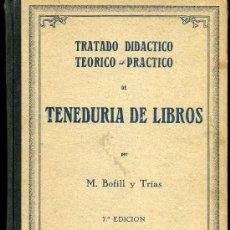 Libros antiguos: TENEDURIA DE LIBROS - M. BOFILL Y TRÍAS - 1935. Lote 28668932