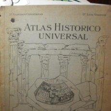 Libros antiguos: 89 PRECIOSO ATLAS HISTORICO UNIVERSAL - FRANCISCO CONDEMINAS - AGOSTINI EDITORIAL. Lote 29408758