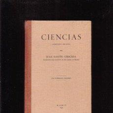 Libros antiguos: CIENCIAS SEGUNDO GRADO, AUTOR: JUAN DANTIN CERECEDA, AÑO 1934. Lote 30151792