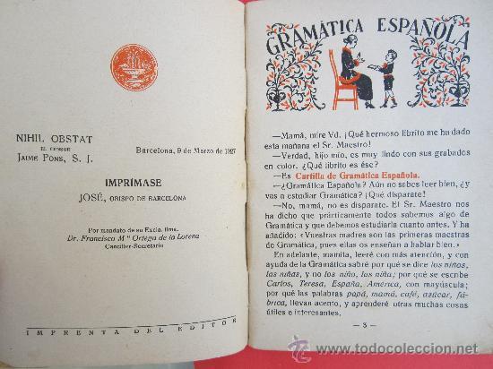 Libros antiguos: cartilla moderna de gramatica , 1928 editorial FTD , libro escolar - Foto 3 - 30174256