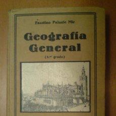 Libros antiguos: GEOGRAFIA GENERAL (3ER GRADO) PALUZIE EDICION 1930. MAPAS Y GRABADOS. Lote 30597906