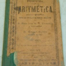 Libros antiguos: PRINCIPIOS DE ARITMETICA TEORICO-PRACTICA-FERRUSOLA/PUJOLAR-IMP.JUAN BONET-OLOT 1902-ORIGINAL. Lote 30993769