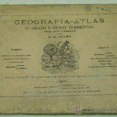 Libros antiguos: GEOGRAFIA ATLAS 1ER GRADO-TEXTO MAPAS Y EJERCICIOS-BRUÑO- AÑO 1928. Lote 30993801