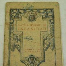 Alte Bücher - CARTILLA MODERNA DE URBANIDAD-2ª edición-Editorial FTD-Barcelona 1928-original - 30994038