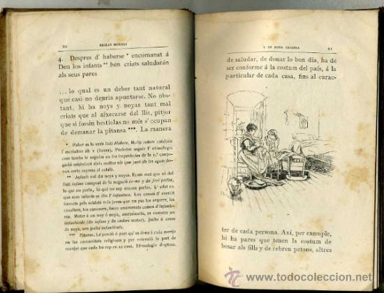 Libros antiguos: PIN Y SOLER : REGLAS MORALS Y DE BONA CRIANSA (1892) ILUSTRACIONES DE PELLICER - CATALÁN - Foto 3 - 31337353
