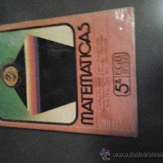 Libros antiguos: MATEMATICAS 5º EGB ANAYA 1982. Lote 32059636