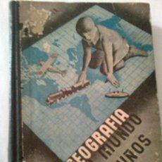 Libros antiguos: UNA GEOGRAFIA DEL MUNDO PARA LOS NIÑOS / V.M. HILLYER. MADRID : ED. ETUDIO, S.A. 17X13CM. 401 P.. Lote 96548568